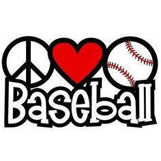 Peace Love Baseball by Mychristianshirts on Etsy