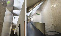 UTS Science Building (Sydney) Australia - Trencadis Math Art, Sydney Australia, Maths, Stairs, Science, Building, Home Decor, Stairway, Decoration Home