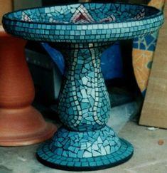 mosaic bird bath . . .