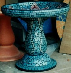 mosaic bird bath . . .