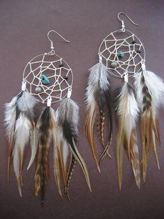 Dream Catcher Earrings Handmade Beaded Indian Jewelry