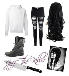 """Jeff The Killer outfit "" by mikkibear09 on Polyvore featuring SWEAR, Glamorous and Chicago Cutlery"