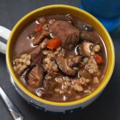 Kellys Slow Cooker Beef, Mushroom, and Barley Soup - Allrecipes.com