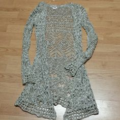 Beautiful cardigan!!!!!!!!!! New without tags last pic shows extra string for reweaving if necessary this sweater is so pretty Mossimo Supply Co Sweaters Cardigans