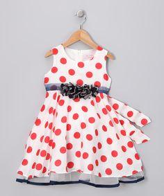 White & Red Polka Dot Dress - Infant, Toddler & Girls - Rose Kelly http://www.zulily.com/invite/kstoegbauer254