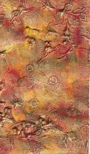 Fantastic background with tissue paper and alcohol inks - Daniela Rogall…