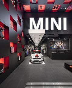bmw's mini pop-up shop in london. studio 38