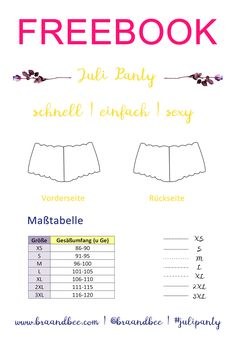 Juli Panty Schnittmuster & Anleitung Julipanty by BRA & BEE Sewing Patterns Free, Free Sewing, Free Pattern, Pattern Sewing, Athletic Swimwear, Sewing Lingerie, Lingerie Underwear, Lace Lingerie, Diy Couture