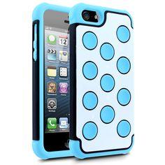 Blue & White iPhone 5 Case - Sky Blue/Black/White - www.cellairis.com