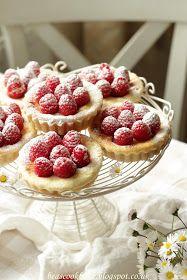 Bea's cookbook: BAKED MINI CHEESECAKES WITH RASPBERRIES