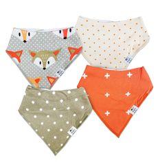 Munchkins & Milestones Set of 4 Unisex Baby Bandana Bibs 100% Organic Cotton  https://munchkinsmilestones.com/products/little-rascals?utm_source=pinterest&utm_medium=cpc&utm_campaign=ownad