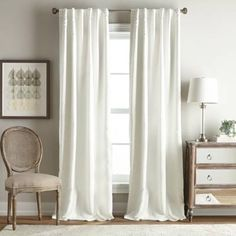 Product Image for Simone Rod Pocket/Back Tab Room Darkening Window Curtain Panel 1 out of 1