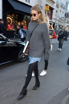Gigi Hadid leaves the Diana Vreeland The Modern Woman Book Launch at Colette on October 2 2015 in Paris France