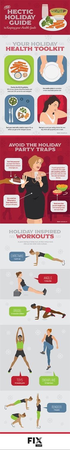 The Hectic Holiday Guide to keeping Health Goals #Infographics