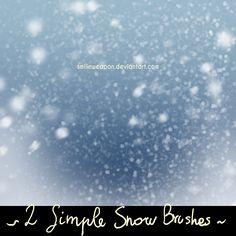 Smilinweapon Snow Brushes by smilinweapon.deviantart.com on @DeviantArt #photoshop #photoshopbrush #snow