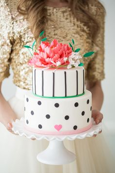 fun & festive gorgeous wedding cake!