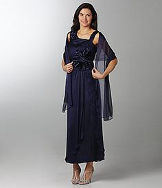 KM Collections Beaded Gown | Dillards.com