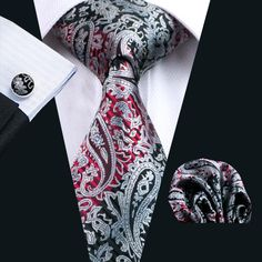 Top Selling Black Paisely Silk Ties Set For Men Hankerchief Cufflinks Jacquard Woven Classic Business Formal Work Neck Tie Set N 0359 From Doris_0115, $8.05   Dhgate.Com