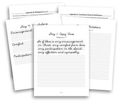 Write Through the Bible is a series of copywork printables designed for the entire school year, combining handwriting, dictations, vocab., and Scripture memory into one daily activity.
