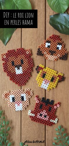 DIY : mes grilles pour réaliser le Roi Lion de Disney en perles Hama / perles à repasser ! The Effective Pictures We Offer You About bead crafts for kids A quality picture can tell you many things. You can find the most beautiful pictures that[. Hama Disney, Hama Beads Disney, Disney Diy, Disney Crafts, Easy Perler Bead Patterns, Melty Bead Patterns, Perler Bead Templates, Diy Perler Beads, Perler Bead Art