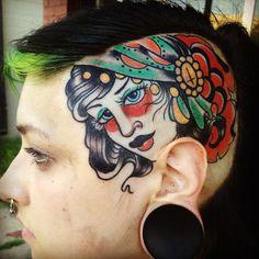... the Map Tattoo : Tattoos : Frank Ready : Traditional gypsy head tattoo