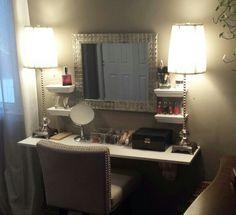Photography Gallery Sites wood closet organizer system with vanity Google Search Vanity DeskVanity RoomVanity TablesDiy Makeup