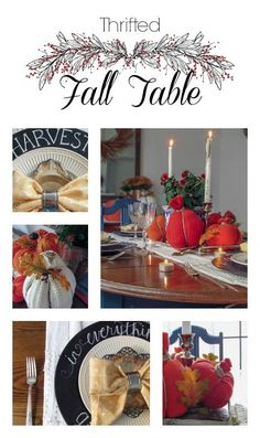 Thrifted Fall Table/