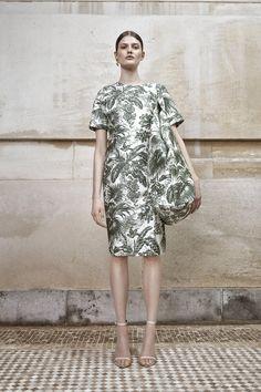 Leaf print dress Leaf Prints, High Neck Dress, Couture, Dresses, Fashion, Turtleneck Dress, Haute Couture, High Fashion, Gowns