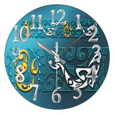 "Title : 1, Fabric, Ethnic, Embossed, Sea Blue Hue Large Clock  Description : Fabrics, Patterns, Textiles, Stylish, Trendy, ""Home-Décor"", ""Ethnic-Cultural"", Tribal, Kokopelli, Oceanic, Bold, Colorful, Modern, Contemporary, Jacquard, Geometric, Nationality, Brocade, Exotic, Iconic, Symbolic, ""Home-Accessories"", Fashions, Polynesian, Silhouettes, Embellished, Embossed, Western, Southwest, ""Illustrative-Art"", ""Digital-Art"", Cactus, ""Native-American"", Vintage, Unique, Asian, Australia, Europe…"