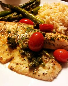 The Tastetress: Simple Pan Seared Tilapia with Mediterranean Style