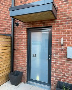 Transform your front door with a personalised design from Purlfrost. Add privacy and transform your home: Visit our website. Kerb Appeal, House Names, Door Numbers, Number Stickers, Tall Cabinet Storage, Garage Doors, Windows, Website, Outdoor Decor