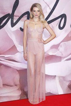 Fashion Awards Red Carpet Gallery 2016 | British Vogue Pink transparences