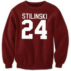Stilinski 24 Jumper Teen Wolf TV Inspired Top High Quality Well Made... (28 CAD) ❤ liked on Polyvore featuring tops, hoodies, sweatshirts, sweaters, shirts, faded shirt, red shirt, red top, vinyl top and wolf shirt