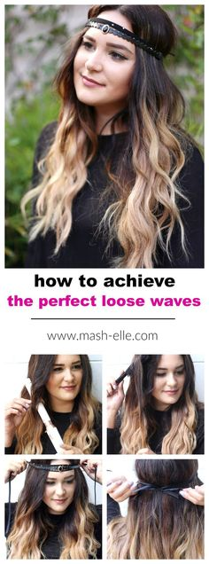 Finally, a step by step tutorial on how to achieve the perfect loose curls! Perfect for everyday wear and compliment a dressy outfit as well! See how beauty blogger Mash Elle achieves this boho inspired loose curl hair tutorial! #ugotthis #ad