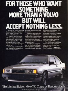Volvo 780 Coupe by Italy Bertone of Italy