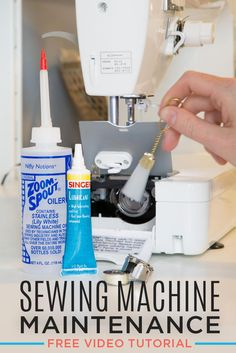 Easy Sewing Projects for Beginners - So Sew Easy - This is the Best Sewing Machine Maintenance Tutorial from Rob Appell of Man Sewing! Sewing Tools, Sewing Hacks, Sewing Tutorials, Sewing Crafts, Video Tutorials, Sewing Ideas, Sewing Diy, Diy Crafts, Sewing Labels
