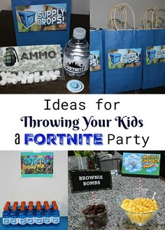 Ideas for Throwing Your Kids a Fortnite Party - Lilli 13th Birthday Parties, Birthday Gifts For Teens, 11th Birthday, Birthday Fun, Birthday Party Themes, Birthday Ideas, Ninja Birthday, Birthday Cake, Birthday Crafts