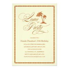 Luau Birthday Party Invitations Elegant Palm Tree Hawaiian Luau Party Invitations