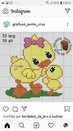 Cross Stitch Baby, Cross Stitch Animals, Cross Stitch Charts, Cross Stitch Patterns, Crochet Patterns, Cross Stitching, Cross Stitch Embroidery, Hand Embroidery, Intarsia Knitting