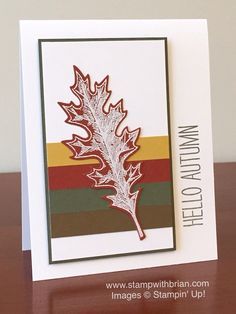 Vintage Leaves, Cheer All Year, Stampin' Up!, Brian King, CYCI94