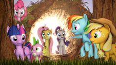 Size: 1920x1080 | Tagged: 3d, alicorn, applejack, artist:jaygaming1, fluttershy, mane seven, mane six, pinkie pie, pony, rainbow dash, rarity, safe, source filmmaker, spike, tree, twilight sparkle, twilight sparkle (alicorn)