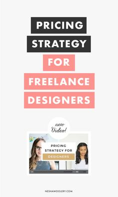 pricing strategy for freelance designers | business, prices, fees, graphic design, web design