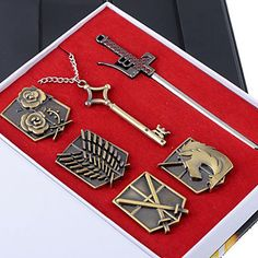 Cosplay Accessories Ourfit Inspired by Attack on Titan(Corps Badges/Eren's Key Necklace/Sword)