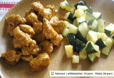 Ízletes zöldséges pulykaragu Hamburger, Pork, Meat, Chicken, Ethnic Recipes, Kale Stir Fry, Burgers, Pork Chops, Cubs