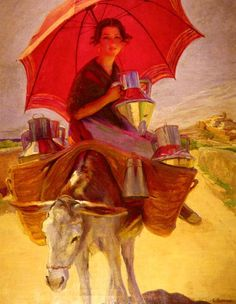 Лауреано Баррау. Красный зонтик