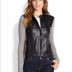 New Anthropologie Ella Moss Georgina Jacket M Brand new ella Moss faux leather sweater jacket. Size medium Ella Moss Jackets & Coats