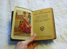 Pocket Bible: New Testament and Psalms. Antique /Vintage Bible/ Religious Books/ Antique Books/ Family Bible/ Old Books Kings James Version