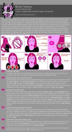 The PBA Guide to Bimbo Makeup – Face shapes and Makeup - Pink Bimbo Academy