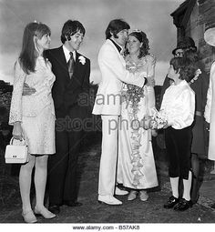 Mike McCartneys Wedding Jane Asher Paul McCartney Groom And Bride With The Little