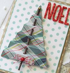 Handmade Christmas Cards A lovely way to incorporate your surroundings and nature in your Christmas cards.